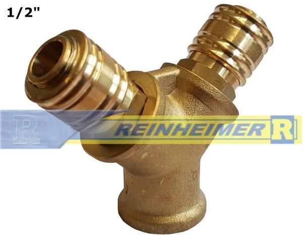 Verteiler 2-Wege/Kupplung G1/2I=18,6mm