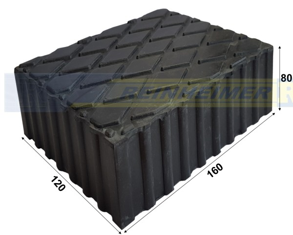 Gummiklotz 160*120 H80