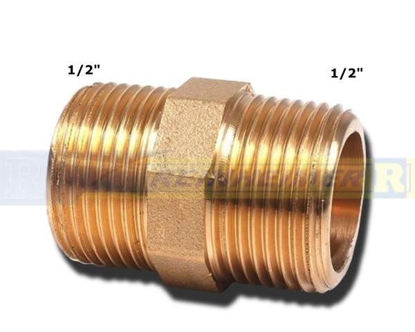 Do.-Nippel 1/2*1/2 MS(21mm)