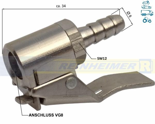 AC01-Clip/D=8 Klipstecker